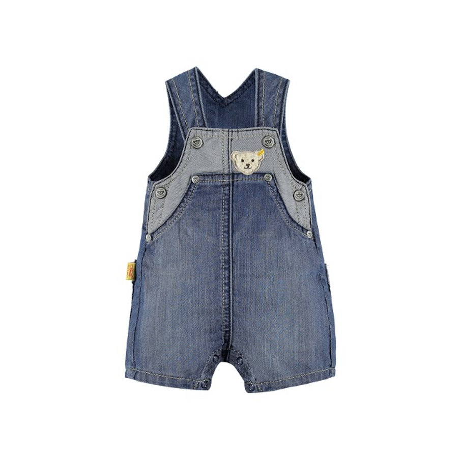 STEIFF Boys Latzshort blue denim