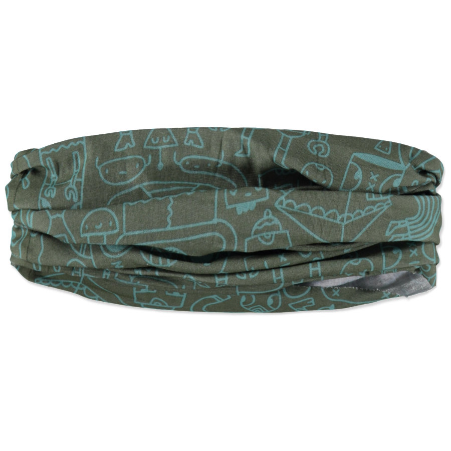 LÄSSIG Boys Twister Multifunkční šátek Robamania zelený