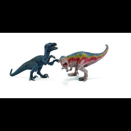 SCHLEICH Dinosauri - T-Rex e Velociraptor, piccolo 42216
