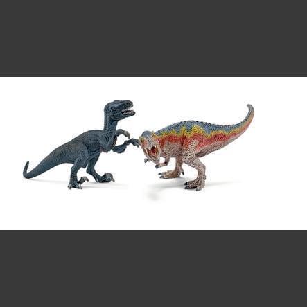 Schleich Figurine T-Rex et vélociraptor, petits 42216