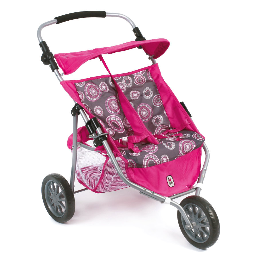 BAYER CHIC 2000 Zwillings-Buggy JOGGER hot pink pearls