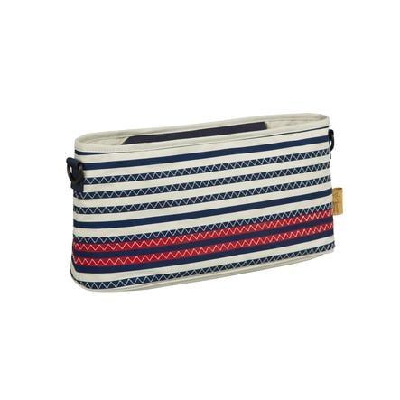 LÄSSIG Barnvagnsväska Striped Zigzag navy