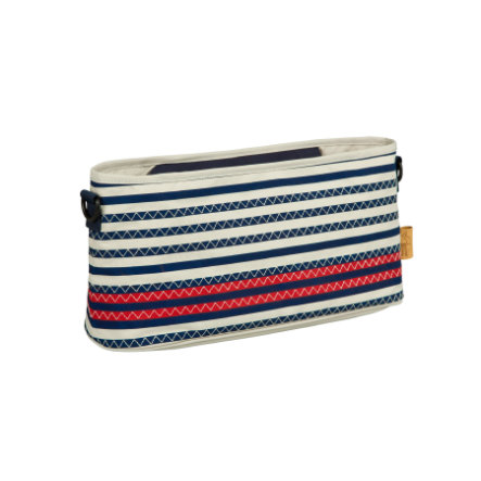 LÄSSIG Buggy Organizer Striped Zigzag navy