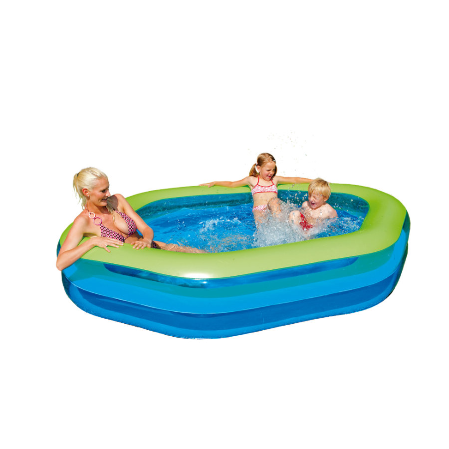 HAPPY PEOPLE Piscine Jumbo Hexagone, env. 252 x 172 x 50 cm
