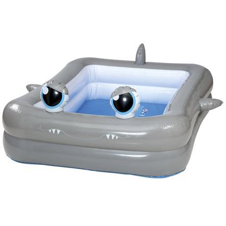 HAPPY PEOPLE Basen Jumbo-Pool Rekin-Design 196x148x46cm
