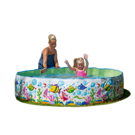 HAPPY PEOPLE Steilwand-Pool im Ocean-Design, ca. 180x38cm