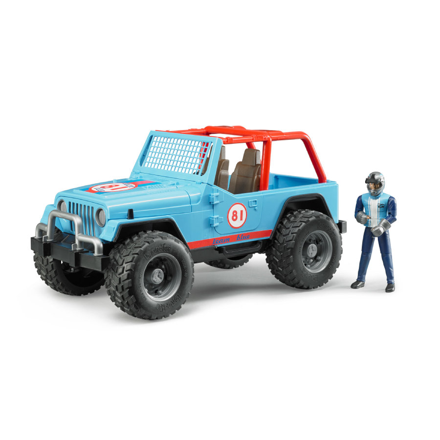 BRUDER® Jeep Cross Country Racer con pilota, blu 02541