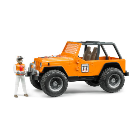 BRUDER® Jeep Cross Country Racer orange met figuur 02541