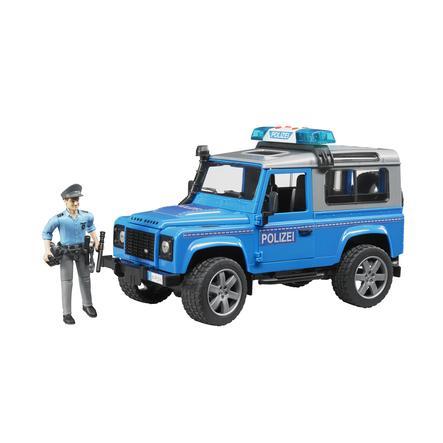 BRUDER® Land Rover Defender Station, policier, accessoires, bleu 02597