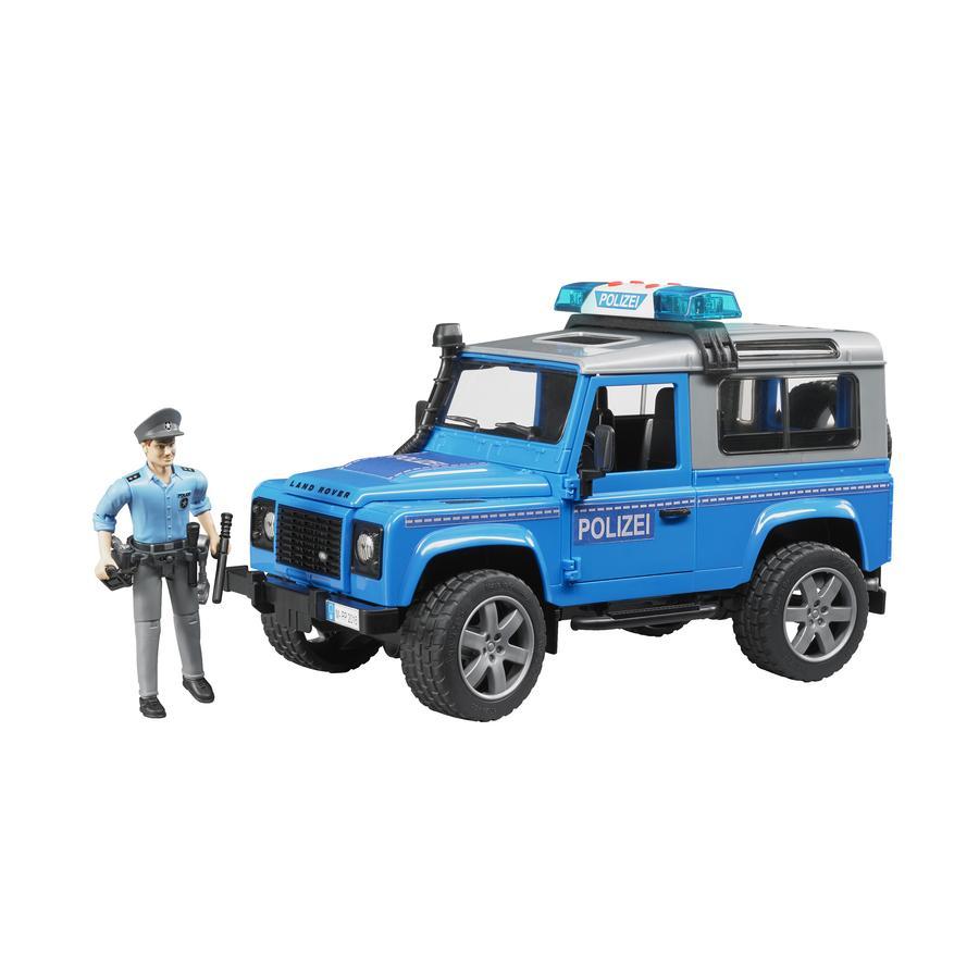 BRUDER® Land Rover Defender Station Wagon Volante della polizia con poliziotto e attrezzatura 02597