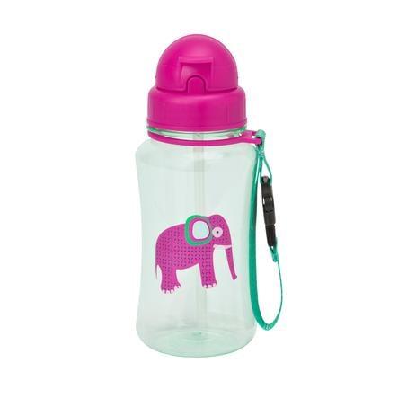 LÄSSIG Butelka z słomką Wildlife Słonik pink