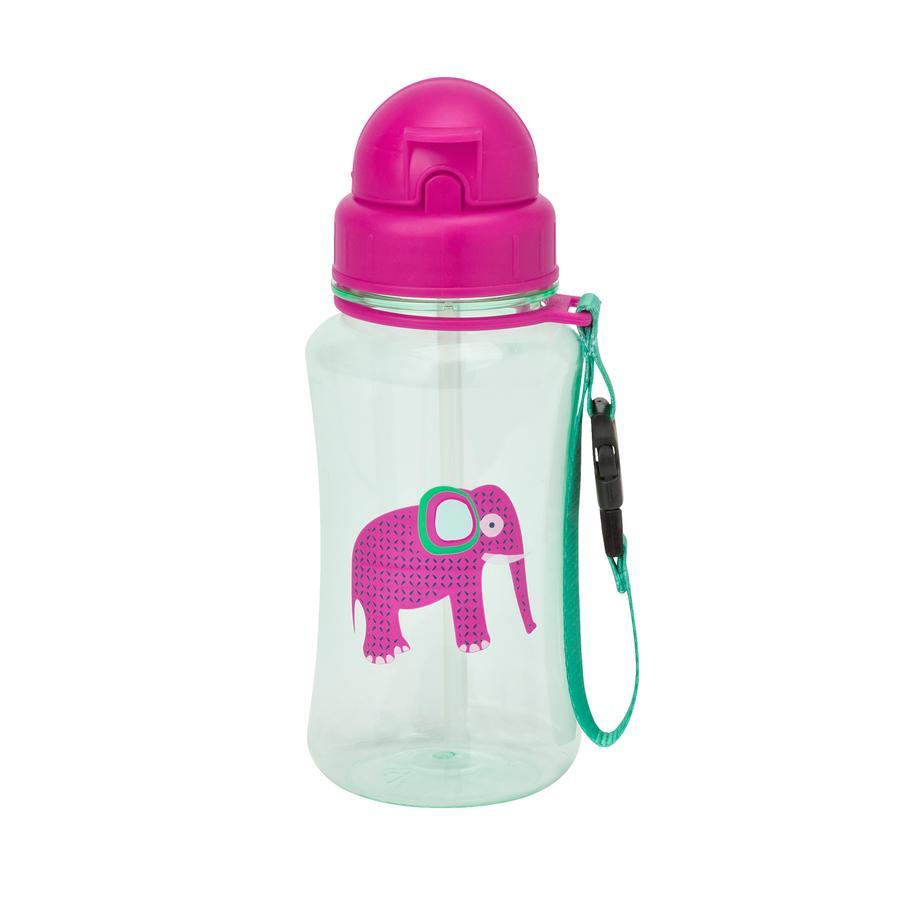 LÄSSIG Juomapullo, Wildlife Elephant, vaaleanpunainen