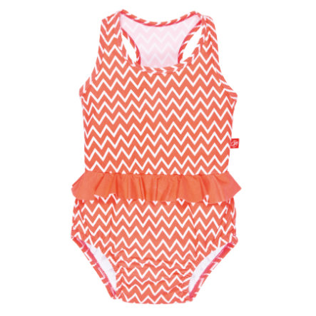 LÄSSIG Girls Badpak zigzag peach