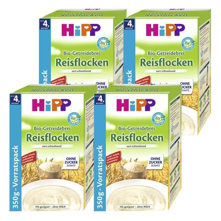 HiPP Bio-Getreidebrei Reisflocken 4 x 350 g ab dem 5. Monat