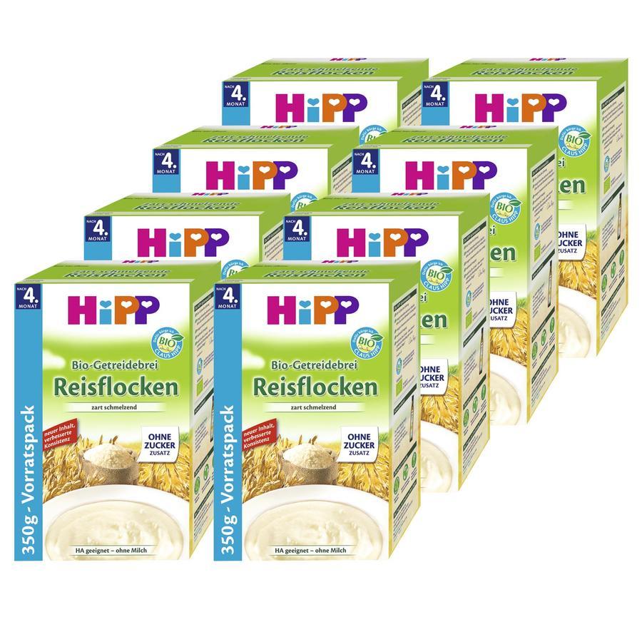 HiPP Bio Cereal Mash Rice Flakes 8 x 400g