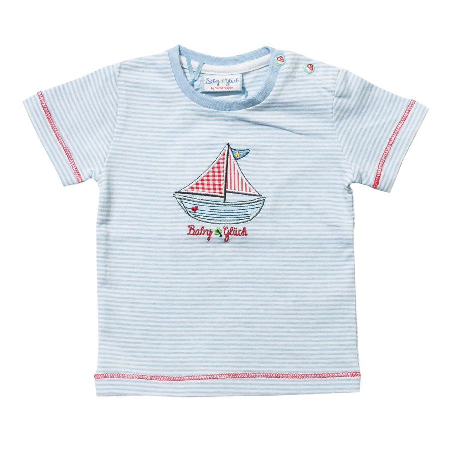 SALT AND PEPPER Baby Glück Boys T-Shirt light blue