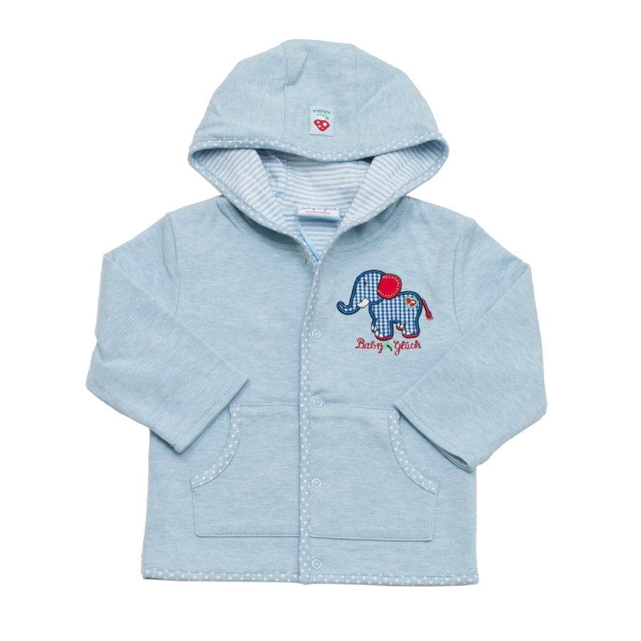SALT AND PEPPER Baby Glück Boys Sweatjacke light blue