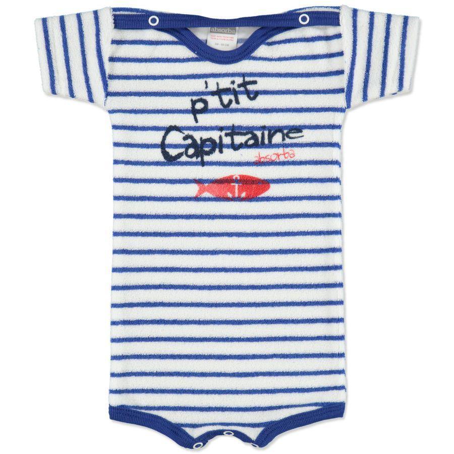 ABSORBA Boys Baby Body z froté bez rukávů - modré