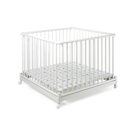 Geuther Box per bambini Euro-Parc, bianco con stelle - 102 x 102cm
