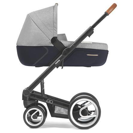 MUTSY Kinderwagen IGO Nomad Gestell Pure Black inklusive Wanne, inklusive Sitz, Pure Fog