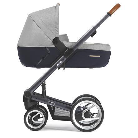 MUTSY Kinderwagen IGO Nomad Gestell Pure Dark Grey inkl. Wanne Pure Fog