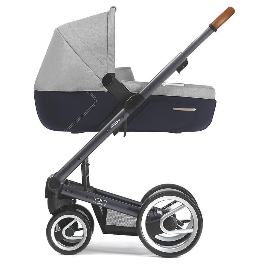 mutsy Kinderwagen IGO Nomad Gestell Pure Dark Grey inklusive Wanne, inklusive Sitz, Pure Fog