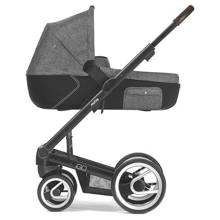 mutsy Kinderwagen IGO Nomad Gestell Farmer Reflect Black inklusive Wanne, inklusive Sitz, Reflect White & Black