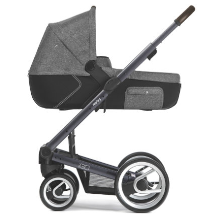 mutsy Kinderwagen IGO Nomad Gestell Farmer Reflect Dark Grey inklusive Wanne, inklusive Sitz, Reflect White & Black