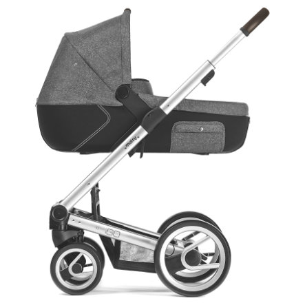 mutsy Kinderwagen IGO Nomad Gestell Farmer Reflect Standard inklusive Wanne, inklusive Sitz, Reflect White & Black