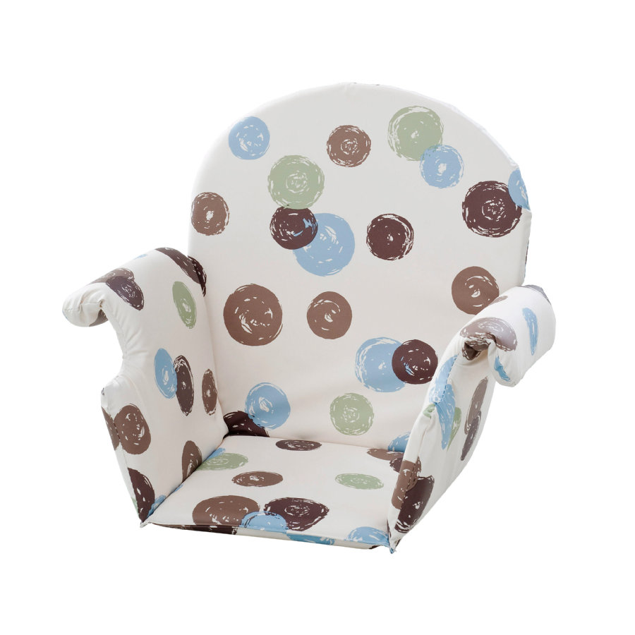 GEUTHER Polstrování do jídelní židličky univerzální - puntíky