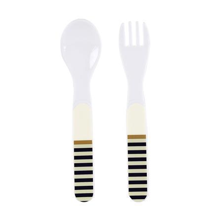 Sterntaler Ensemble cuillère et fourchette - Chien Hanno