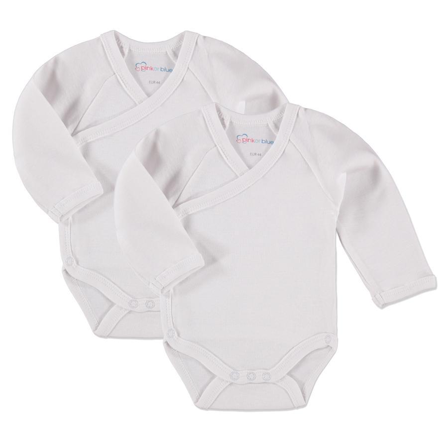 pink or blue Baby Body Manica 1/1 Confezione da 2 bianco