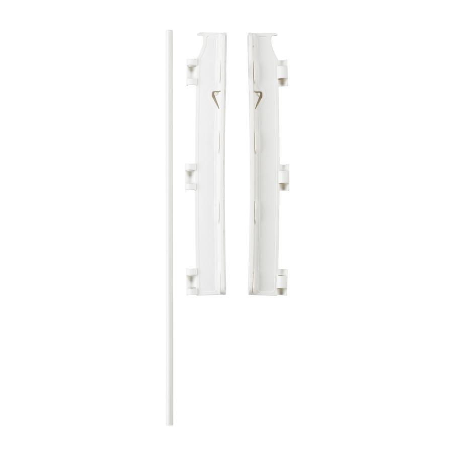 Baby Dan Set de fijación a la pared para Flex Gitter (Rejas de seguridad, M, L, XL, XXL) Blanco