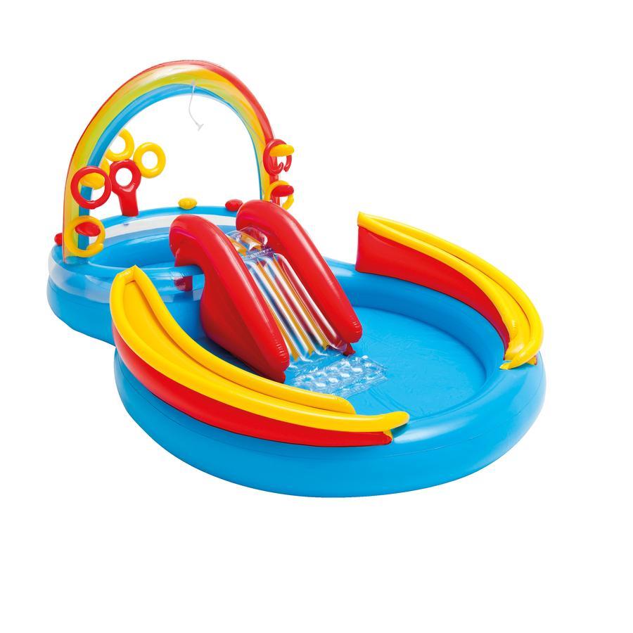 INTEX® Pool/Planschbecken Rainbow-Ring-Playcenter mit Rutsche