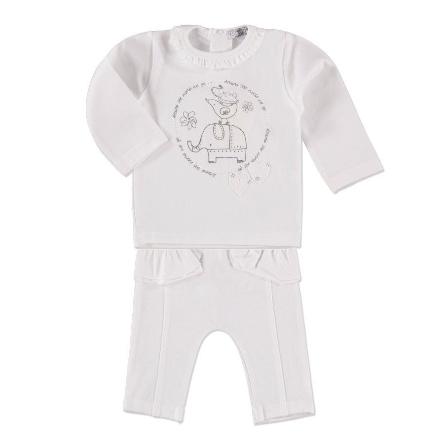 DIRKJE Girls Set 2-tlg. white/grey