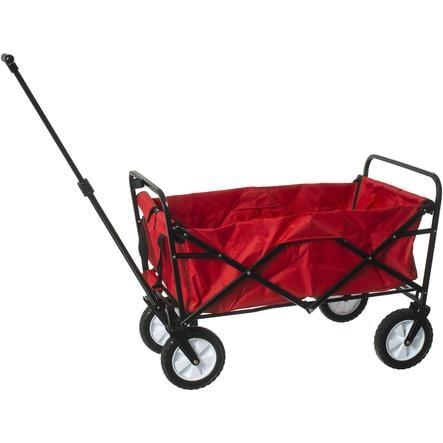 bieco Chariot à roulettes enfant pliable, rouge