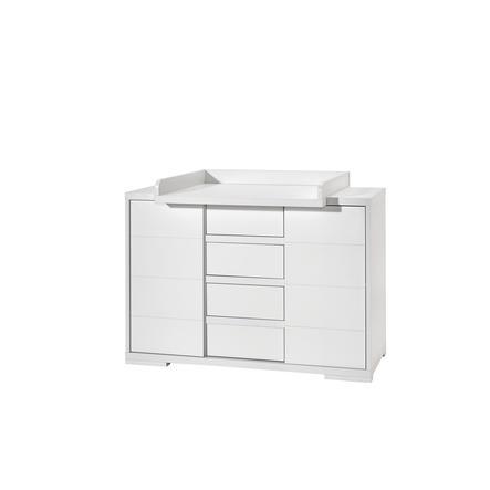 SCHARDT Commode à langer large avec table MAXX WHITE