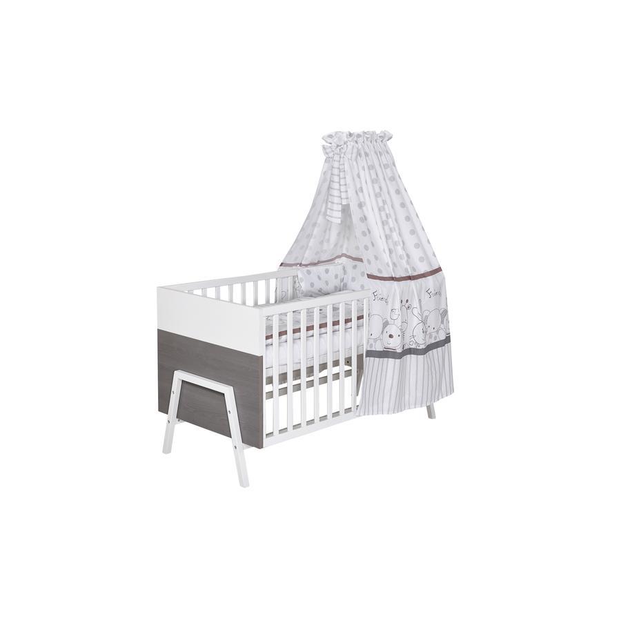 SCHARDT Lit bébé évolutif HOLLY GREY, 70 x 140 cm