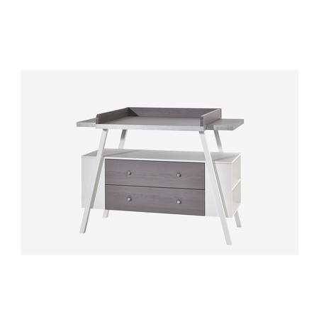 SCHARDT Mobile fasciatoio con superficie di appoggio HOLLY GREY bianco / grigio