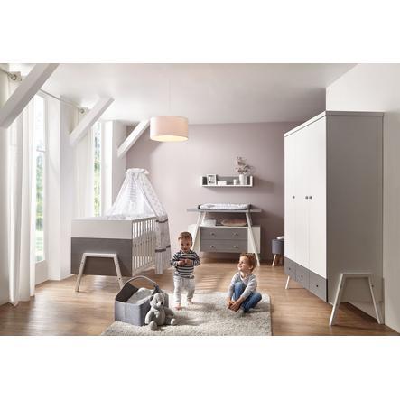 SCHARDT Set cameretta neonato HOLLY GREY bianco / grigio