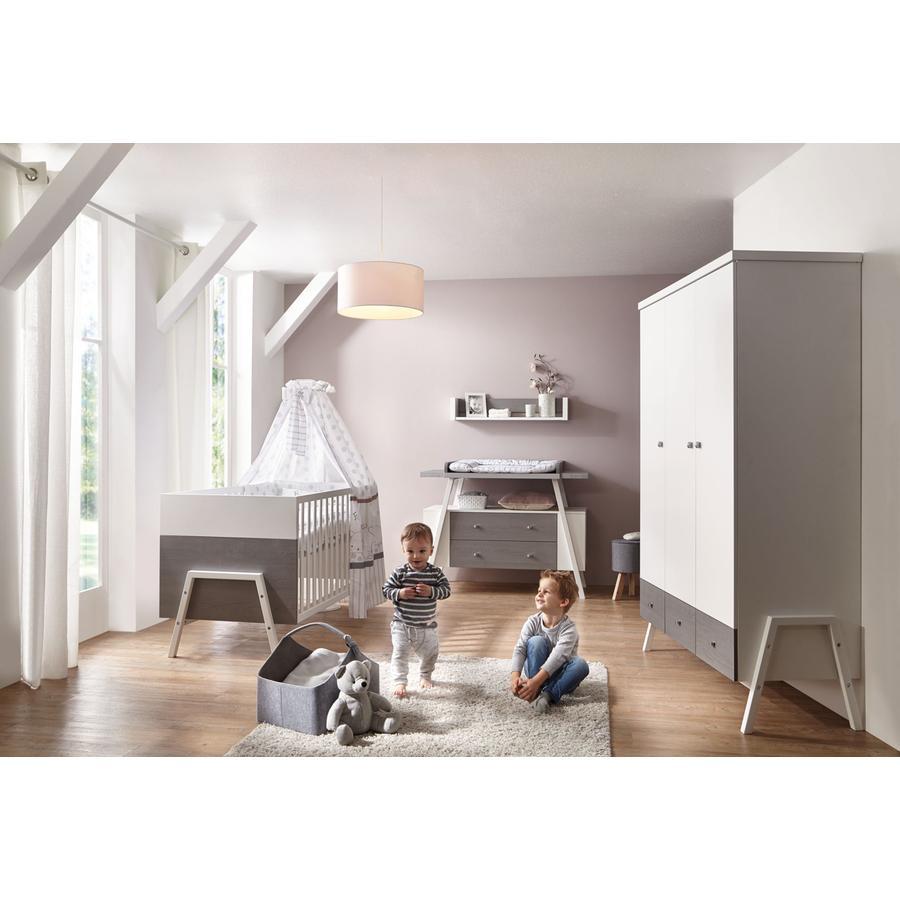 Schardt Chambre d'enfant Holly gris, armoire 3 portes