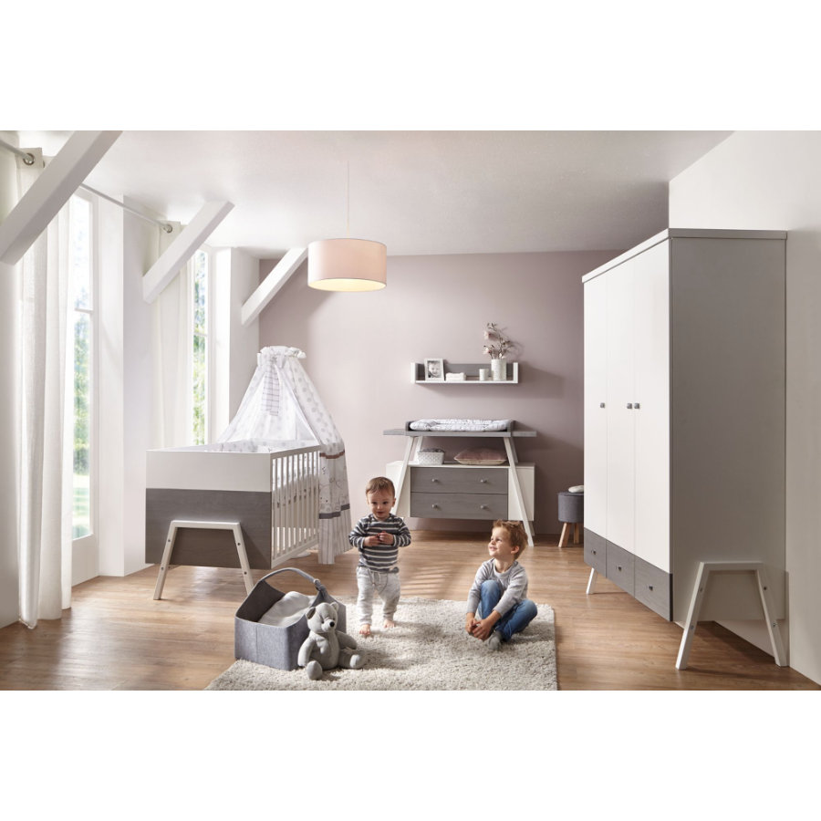 SCHARDT Ensemble chambre d'enfant HOLLY GREY, blanc/gris
