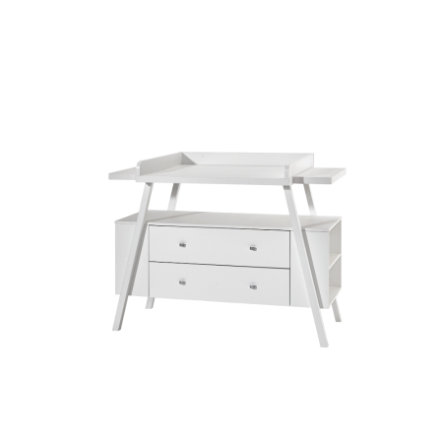 SCHARDT Commode à langer avec table HOLLY WHITE. large, blanc
