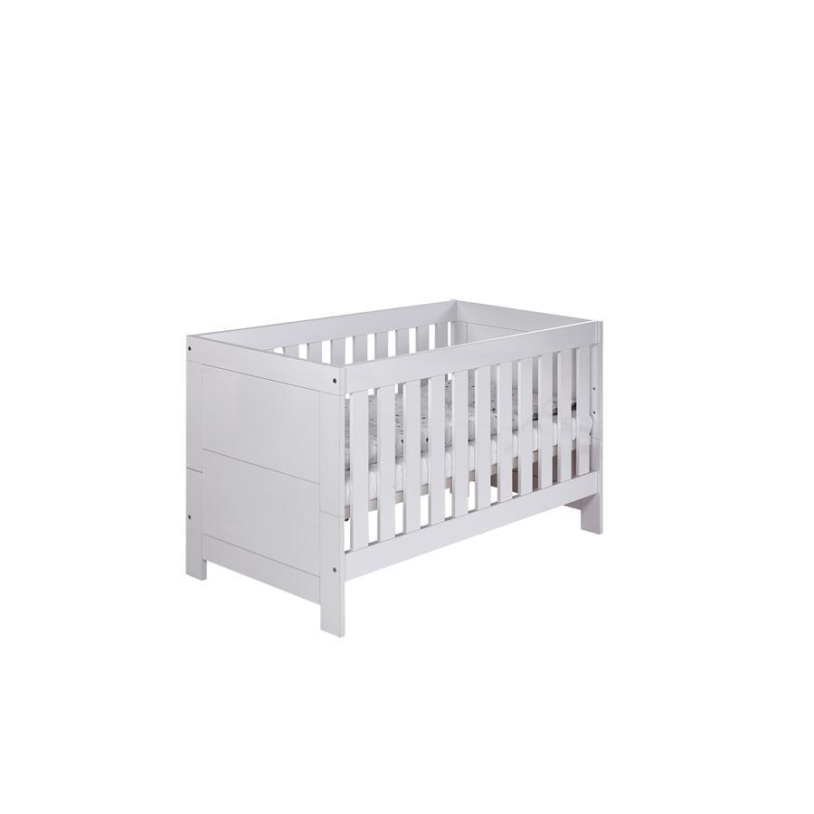 SCHARDT Lit bébé évolutif NORDIC, surbrillant, 70 x 140 cm, blanc