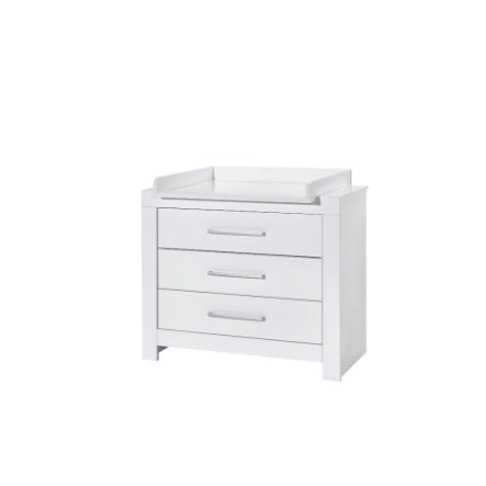 SCHARDT Commode à langer avec table NORDIC, surbrillance, blanc