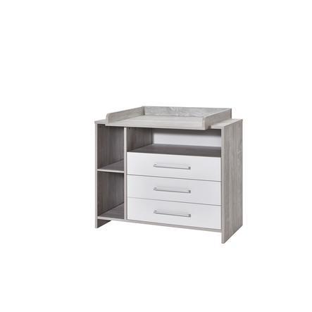 SCHARDT Commode à langer avec table à langer ECO CASCINA, blanc/couleurs bois