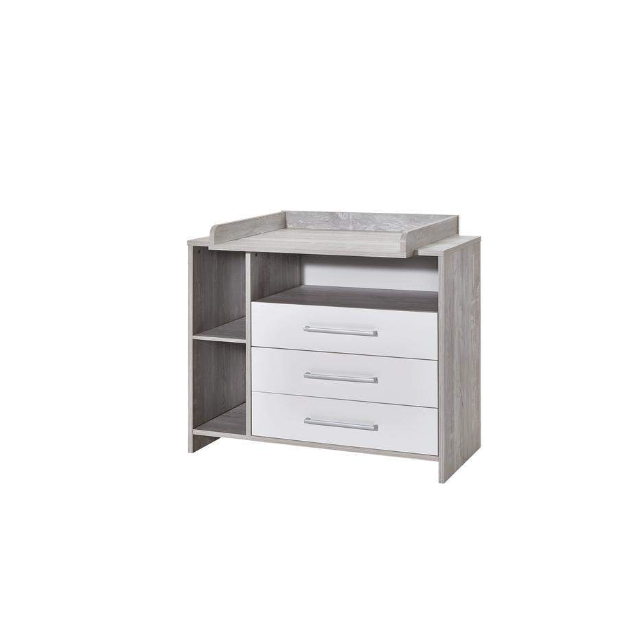 SCHARDT fasciatoio con superficie di appoggio ECO CASCINA bianco/colore del legno