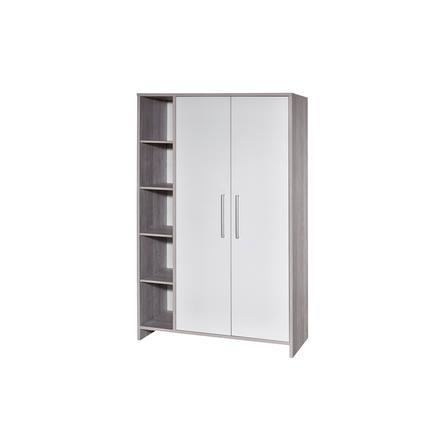 SCHARDT Armoire 2 portes ECO CASCINA, blanc/couleurs bois