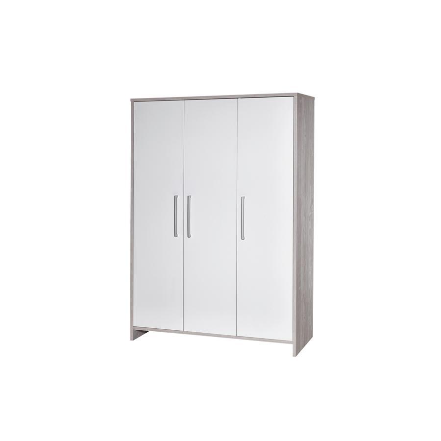 SCHARDT Armoire 3 portes ECO CASCINA, blanc/couleurs bois
