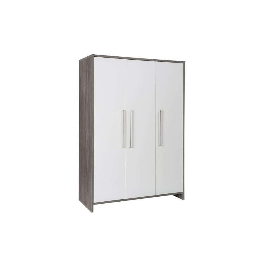 SCHARDT Armoire 3 portes ECO FLEETWOOD, blanc/couleurs bois